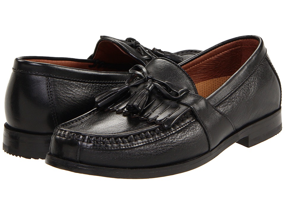 Johnston & Murphy Aragon II (Black Deer w/Black Waxhide Trim) Men