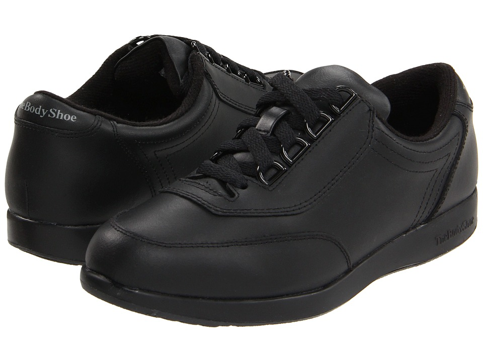 Hush Puppies - Classic Walker (Black Leather) Women's Shoes