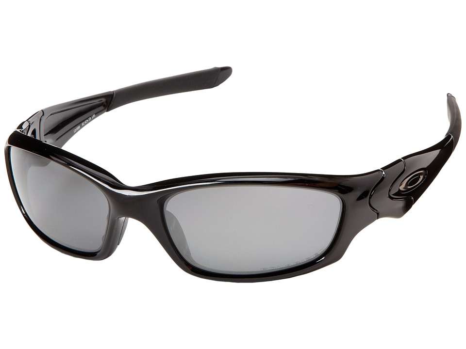 Oakley - Straight Jacket Polarized (Polished Black/Black Iridium Polarized Lens) Sport Sunglasses