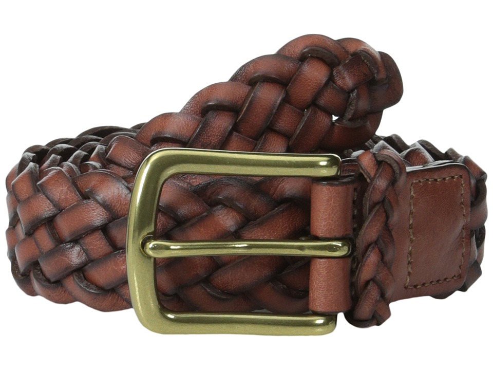 Torino Leather Co. - 30MM Braided Harness (Dark Tan) Men's Belts