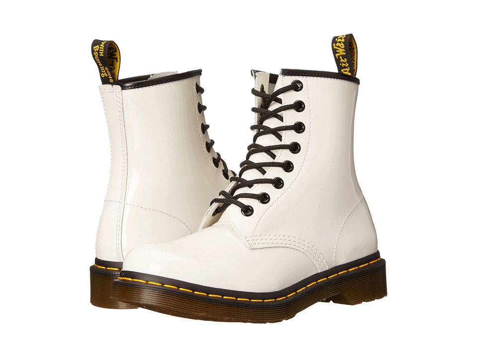 Dr. Martens - 1460 W (White Patent) Women's Lace-up Boots