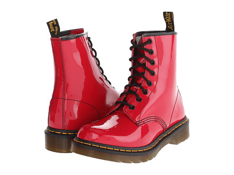 Dr. Martens 1460 W (Red Patent) Women's Lace-up Boots