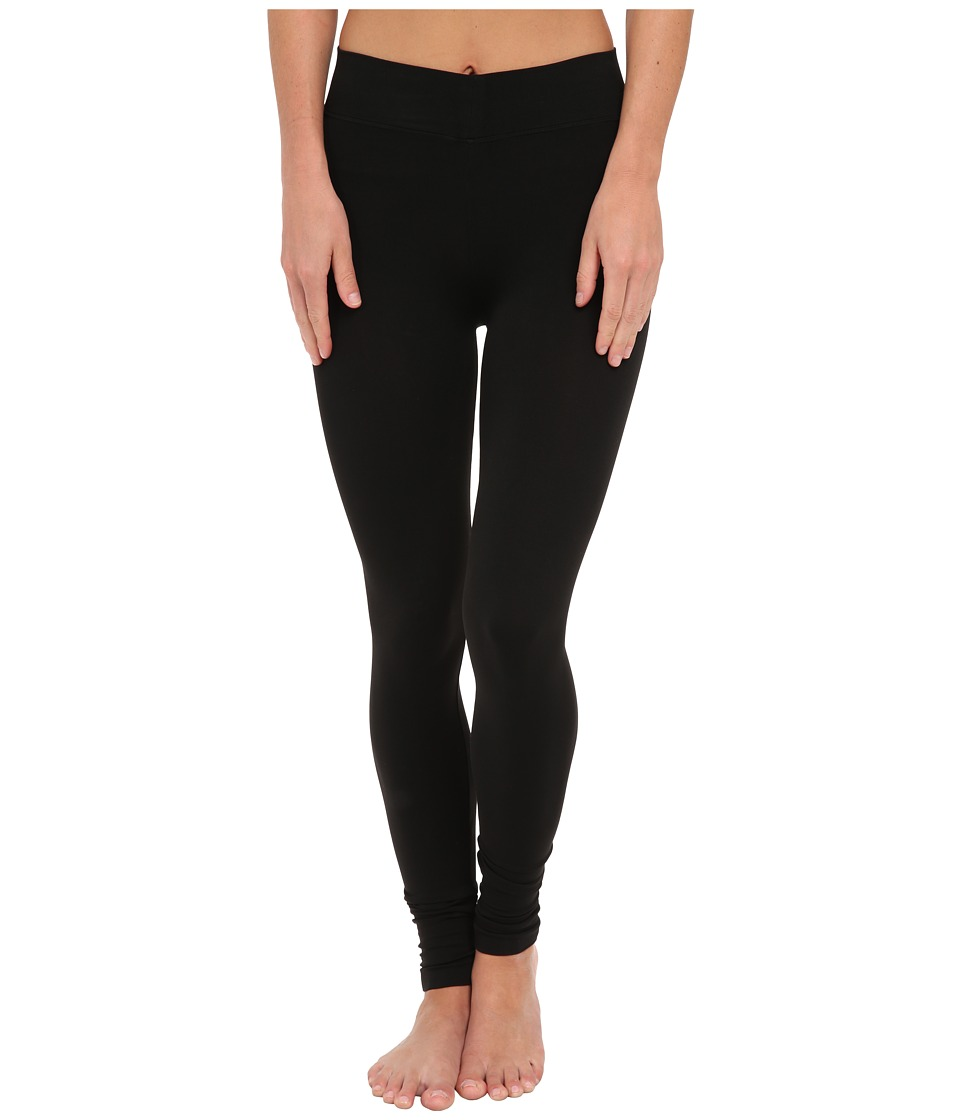 Three Dots - Seamless Jersey Leggings (Black) Women's Clothing