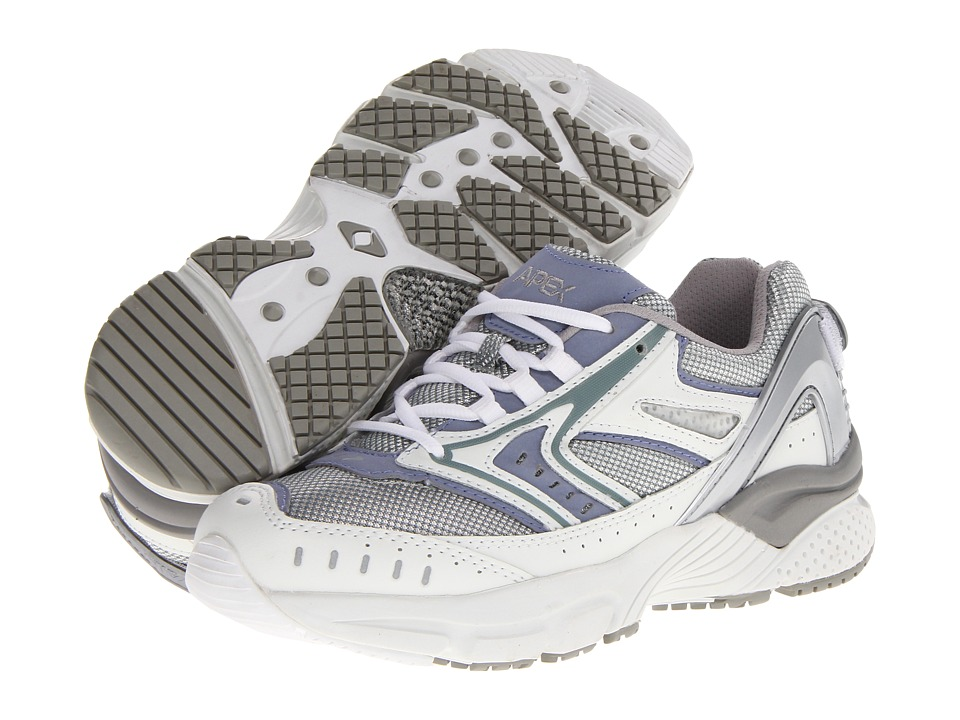 Aetrex - Apex Reina Runner (Silver/Purple) Women's Running Shoes