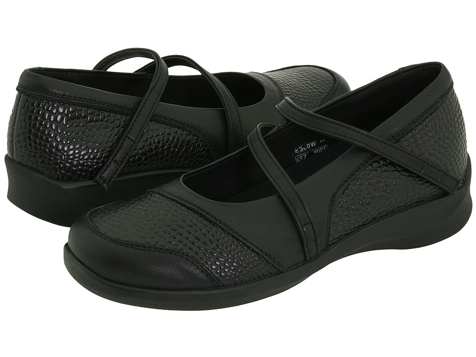Aetrex - Essence Textured Mary Jane (Black) Women