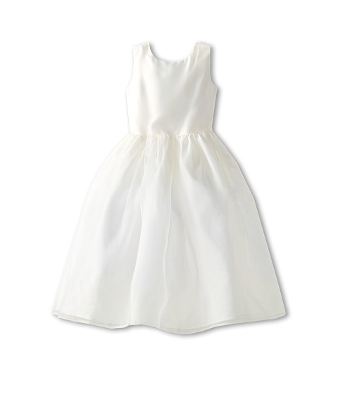 Us Angels - Sleeveless Organza Dress (Little Kids) (Ivory) Girl