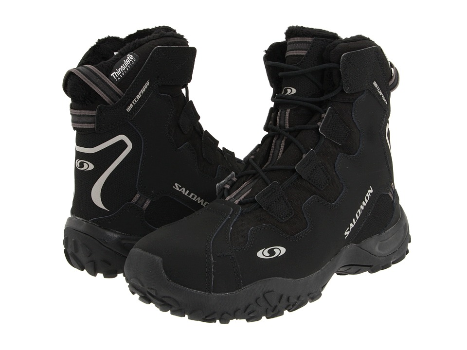 Salomon - Snowtrip TS WP (Black/Black/Black) Men's Cold Weather Boots