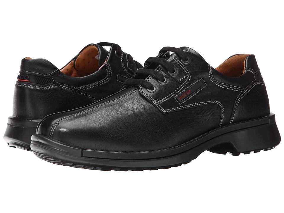 ECCO Fusion Bicycle Toe Tie (Black Leather) Men