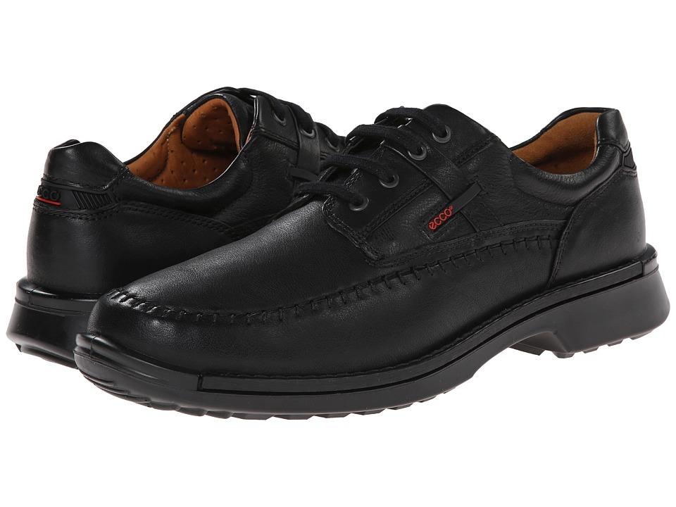 ECCO - Fusion Moc Tie (Black Leather) Men's Lace Up Moc Toe Shoes