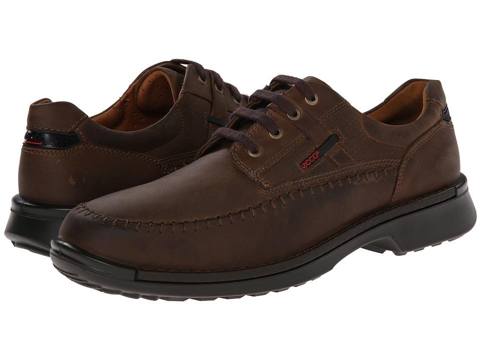 ECCO - Fusion Moc Tie (Mineral Leather) Men's Lace Up Moc Toe Shoes
