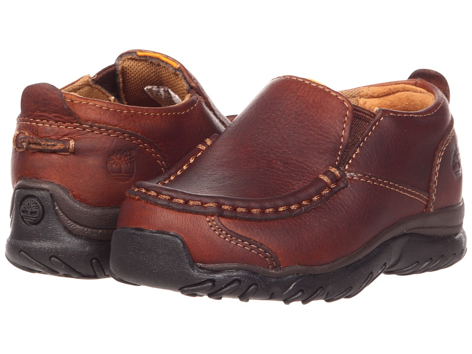 Timberland Kids - Carlsbad Slip-On Core (Toddler/Little Kid) (Brown Smooth Leather) Boys Shoes