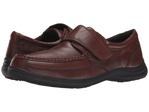 Nunn Bush - Venture Hook-and-Loop Casual - Slip resistant (Cognac Antic Brush Off) Men