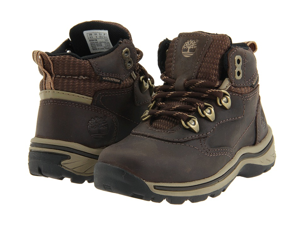 Timberland Kids White Ledge Lace Hiker (Toddler/Little Kid) (Brown Smooth) Boys Shoes