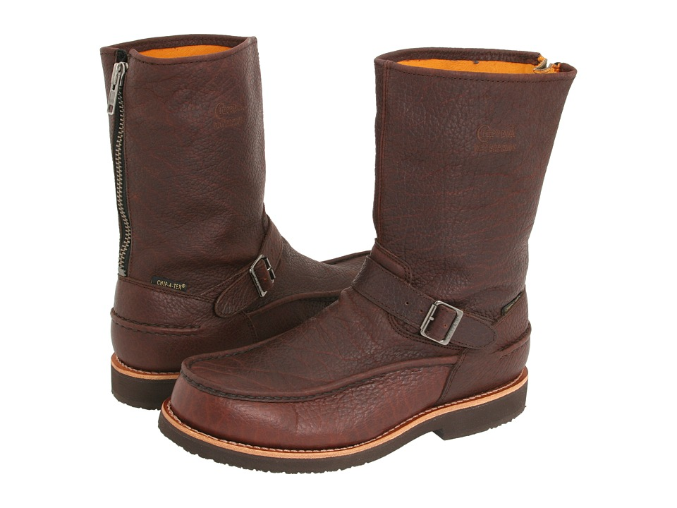 Chippewa - 10 Briar Bison Mocc Toe Back Zip (Brown) Men's Boots