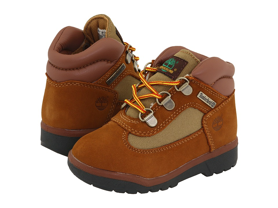 Timberland Kids - Field Boot Leather Fabric Core (Toddler/Little Kid) (Sundance Nubuck) Boys Shoes