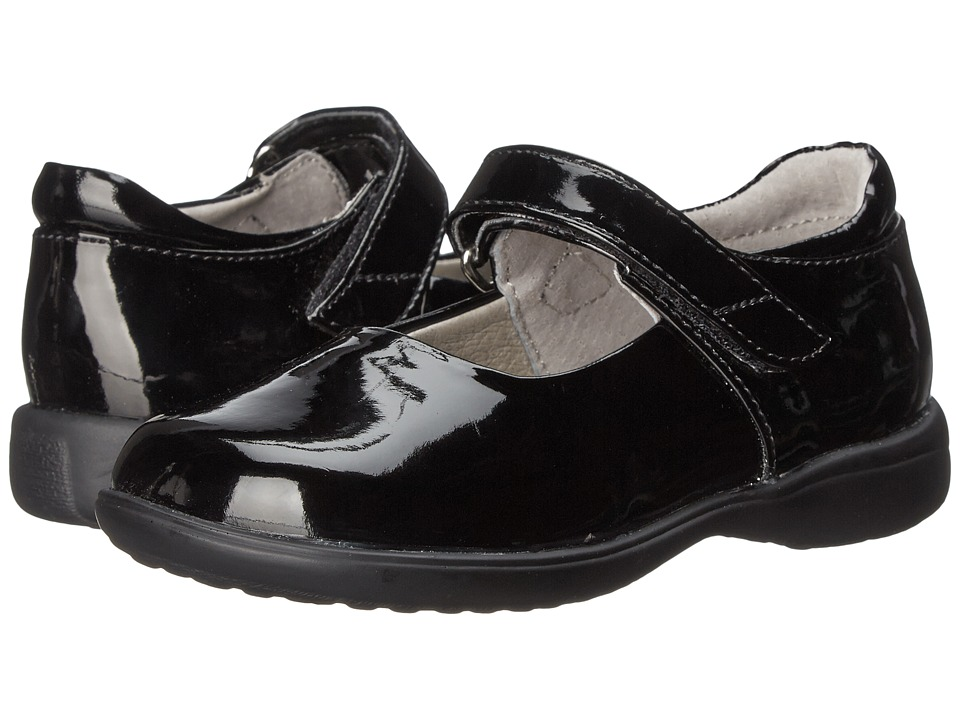 Jumping Jacks Kids - Abby (Toddler/Little Kid/Big Kid) (Black Shiny) Girls Shoes
