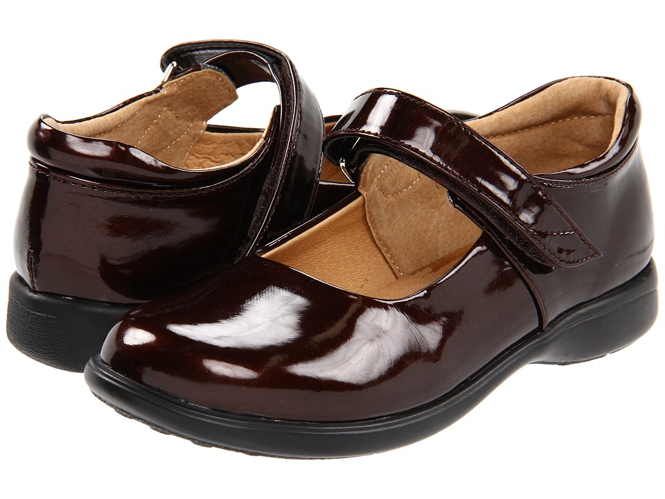 Jumping Jacks Kids - Abby (Toddler/Little Kid/Big Kid) (Brown Shiny) Girls Shoes