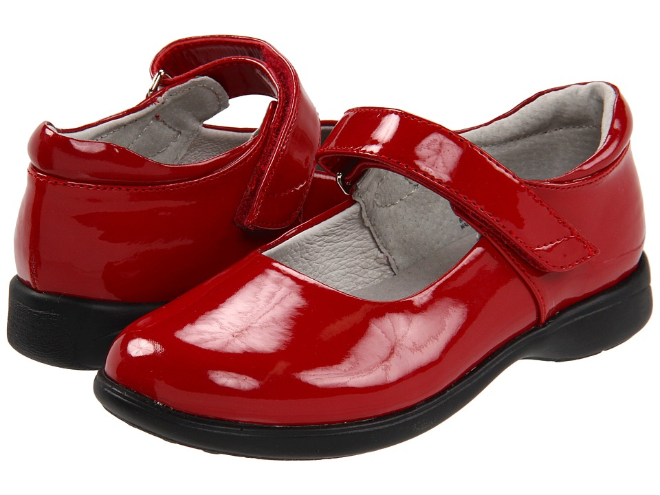 Jumping Jacks Kids - Abby (Toddler/Little Kid/Big Kid) (Red Shiny) Girls Shoes