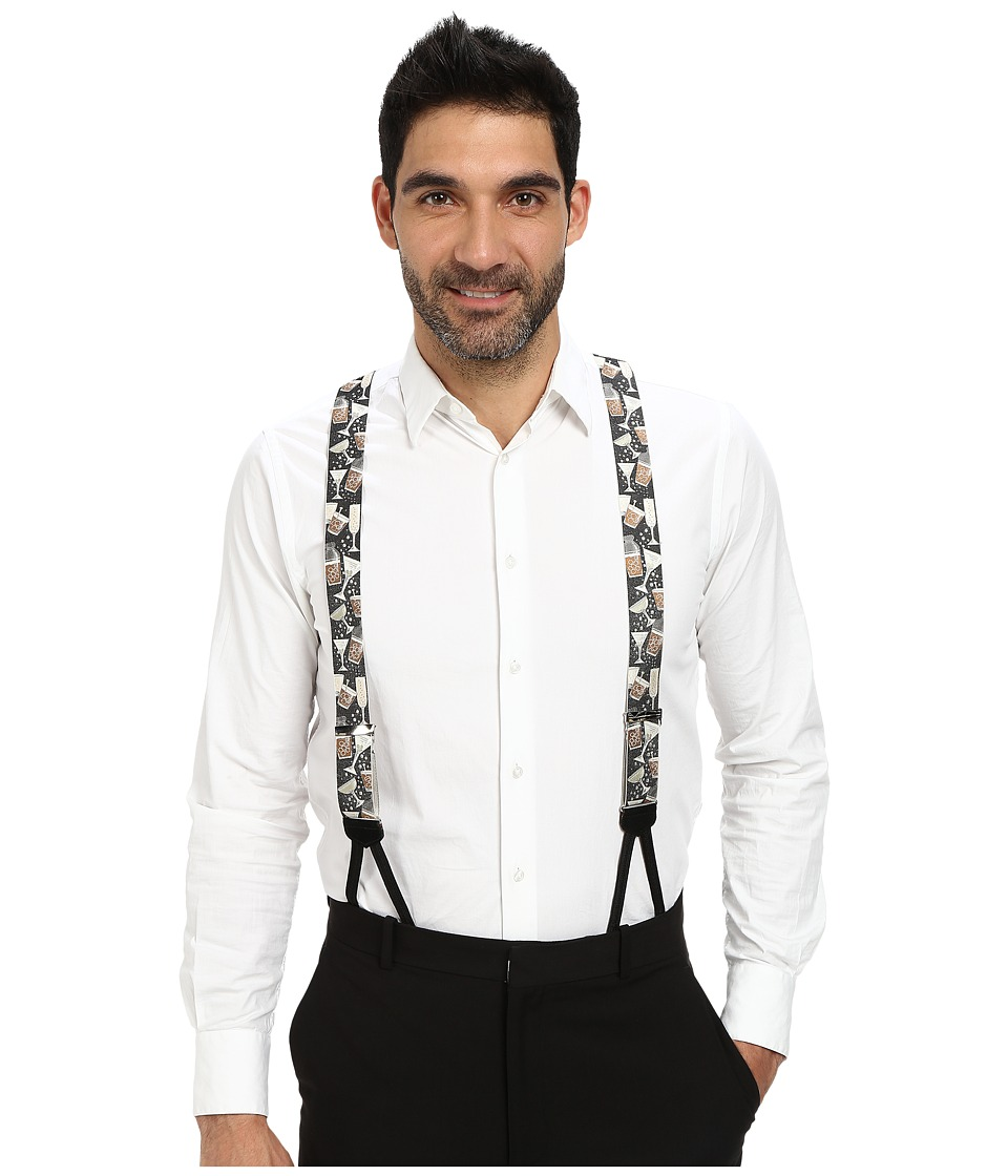 Trafalgar - Cocktails Anyone (Black) Men's Belts