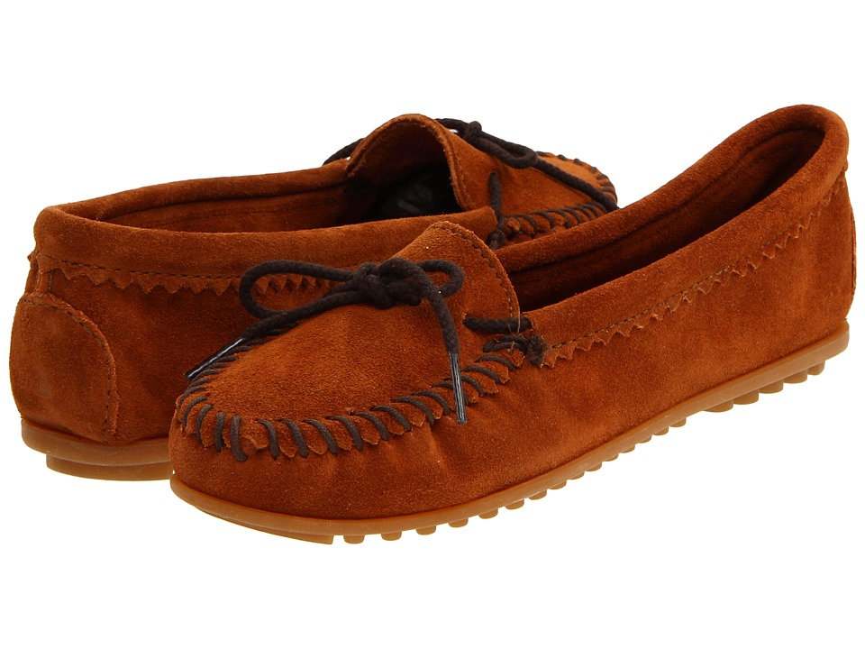 Minnetonka - Suede Skimmer Moc (Brown Suede) Women's Flat Shoes