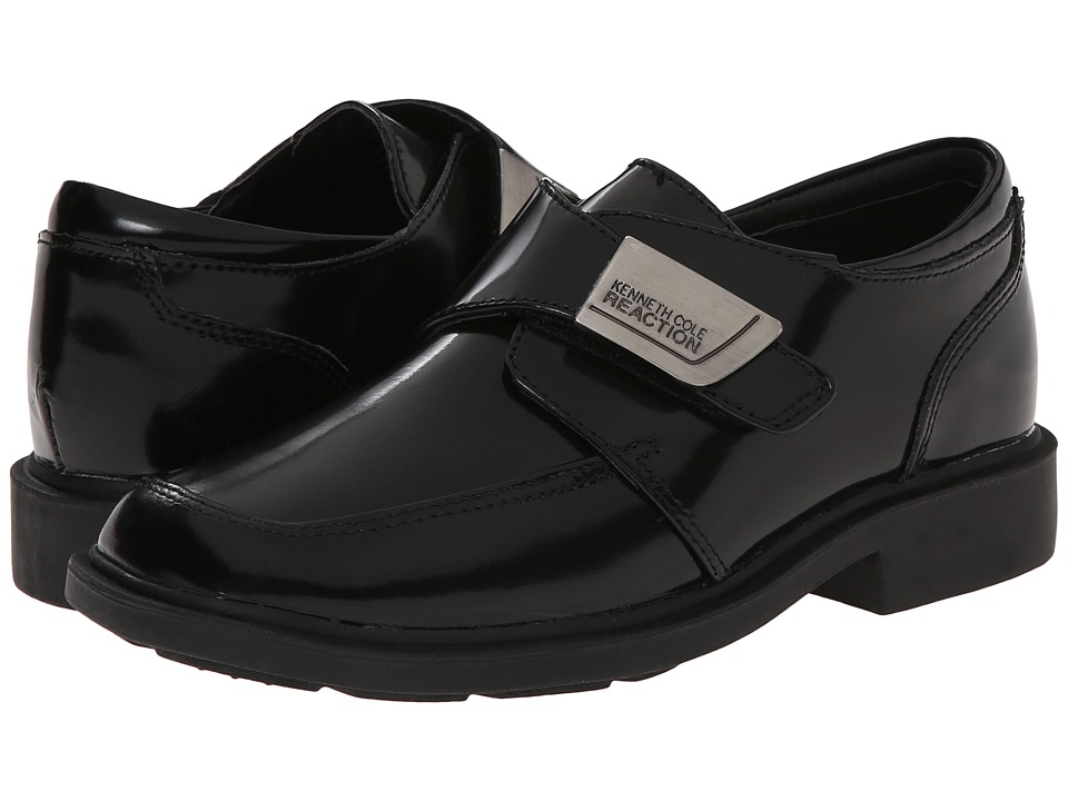 Kenneth Cole Reaction Kids - Fast Cash (Little Kid/Big Kid) (Black Box Leather) Boys Shoes