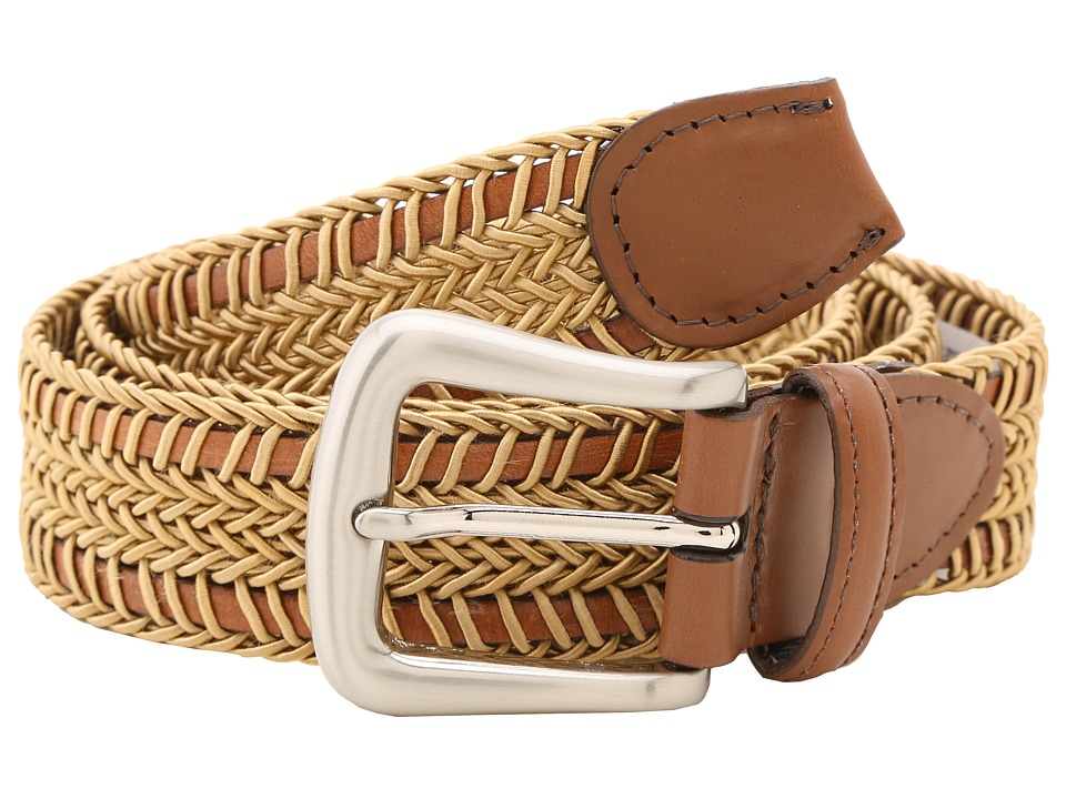 Torino Leather Co. - 30MM Woven Italian Rayon Over Kipskin (Camel) Men's Belts