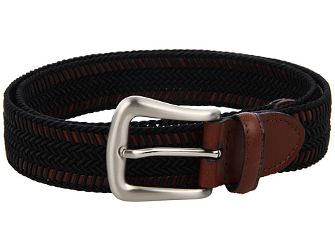 Torino Leather Co. - 30MM Woven Italian Rayon Over Kipskin (Black/Brown) Men's Belts