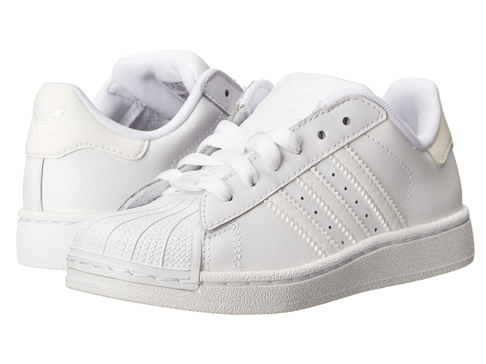 adidas Originals Kids - Superstar 2 Core (Little Kid) (Running White) Kids Shoes