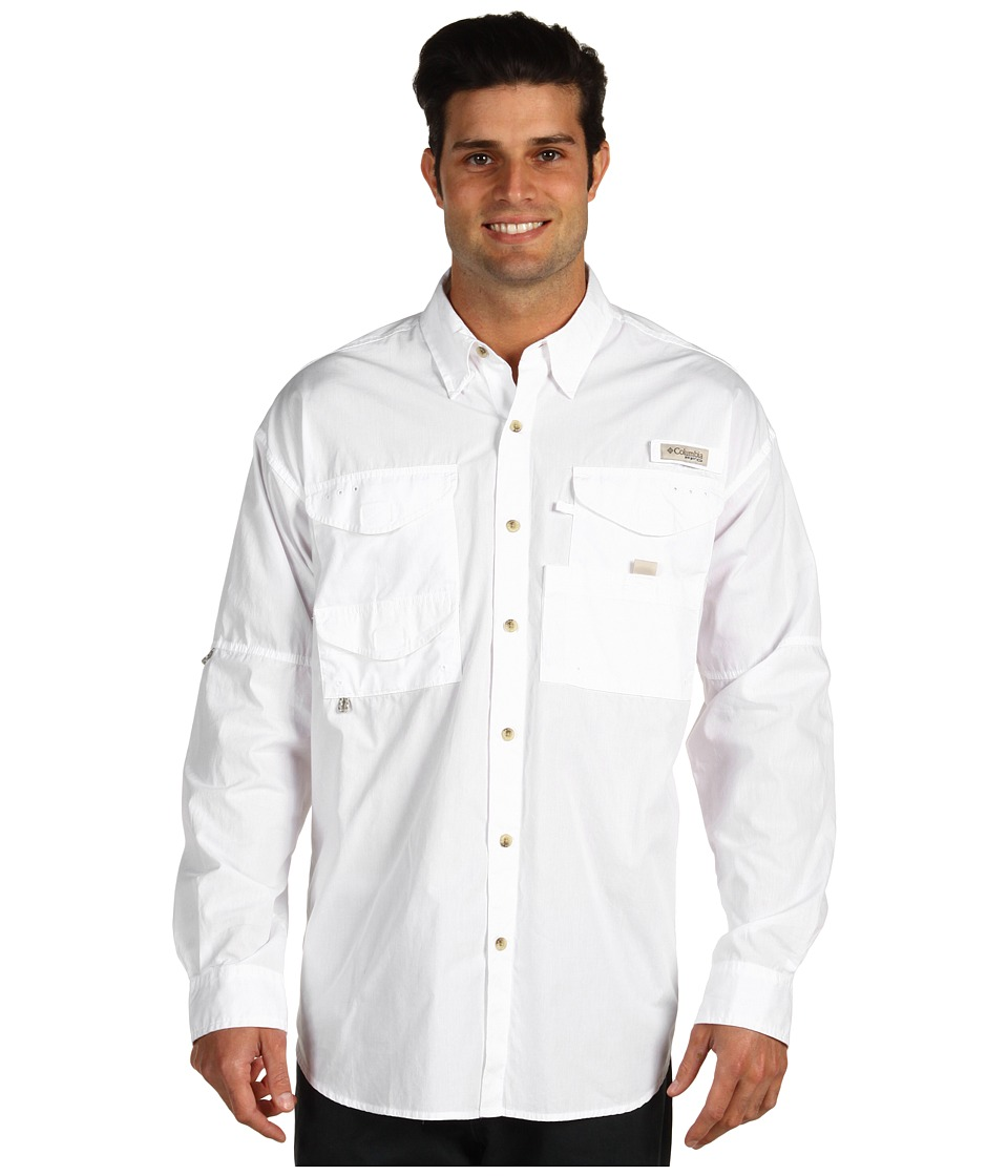 Columbia - Bonehead L/S Shirt (White) Men's Long Sleeve Button Up