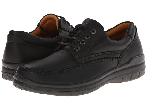 ECCO - SeaWalker Tie (Black Leather) Men's Lace up casual Shoes