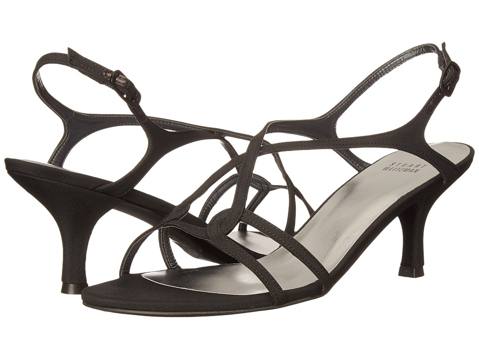 Stuart Weitzman Bridal & Evening Collection - Reversal (Black Peau De Soie) Women's Dress Sandals