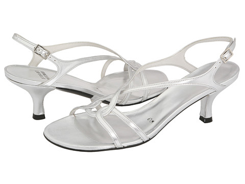 Stuart Weitzman Bridal & Evening Collection - Reversal (Silver Supple Kid) Women's Dress Sandals