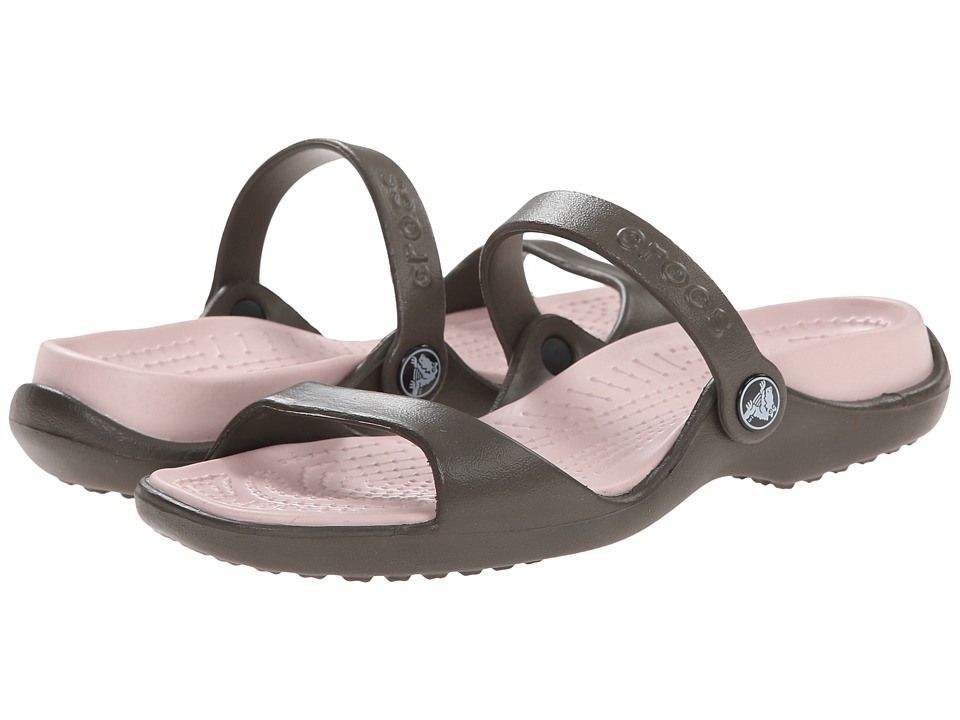 Crocs - Cleo (Chocolate/Cotton Candy) Women's Sandals