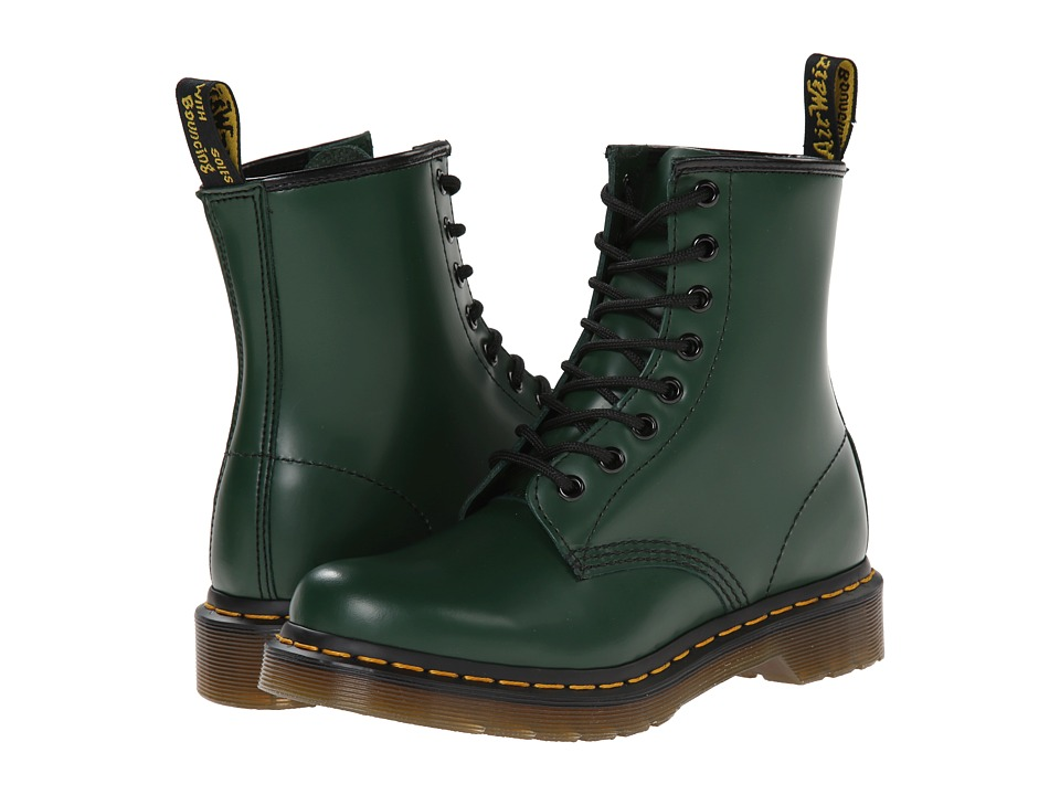 Dr. Martens - 1460 W (Green Smooth) Women's Boots
