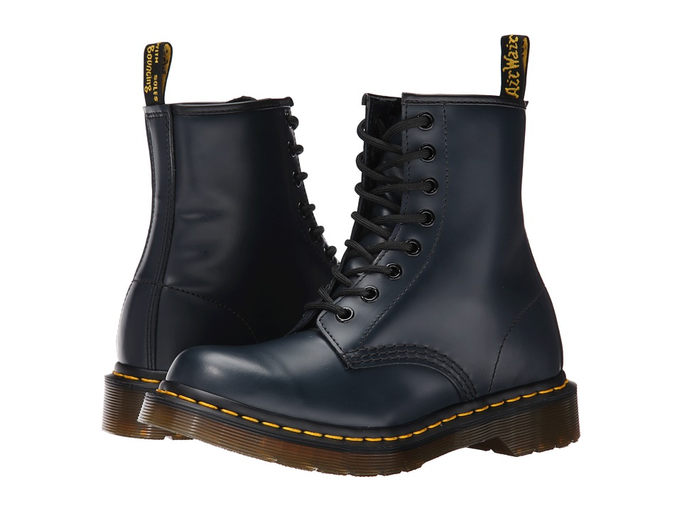 Dr. Martens - 1460 W (Navy Smooth) Women's Boots