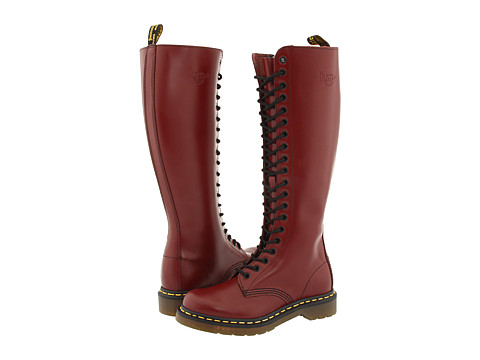 Dr. Martens 1B60 W (Cherry Red Smooth) Women's Lace-up Boots