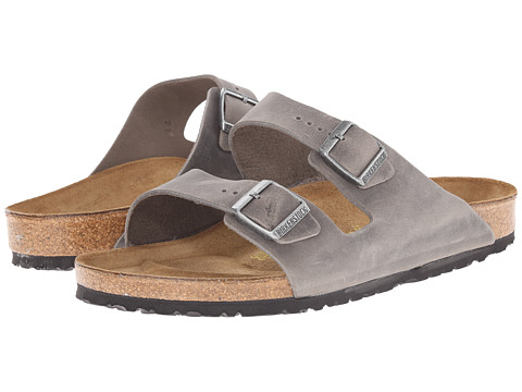 Birkenstock - Arizona - Oiled Leather (Unisex) (Iron Oiled Leather) Sandals