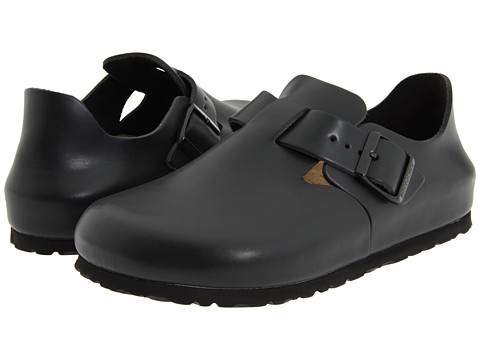 Birkenstock - London (Hunter Black Leather) Slip on Shoes