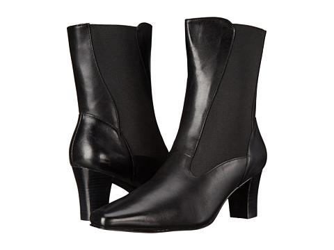 David Tate - Megan (Black Calf) Women's Dress Pull-on Boots