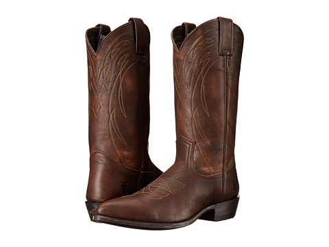Frye - Billy Pull On (Brown Leather) Cowboy Boots