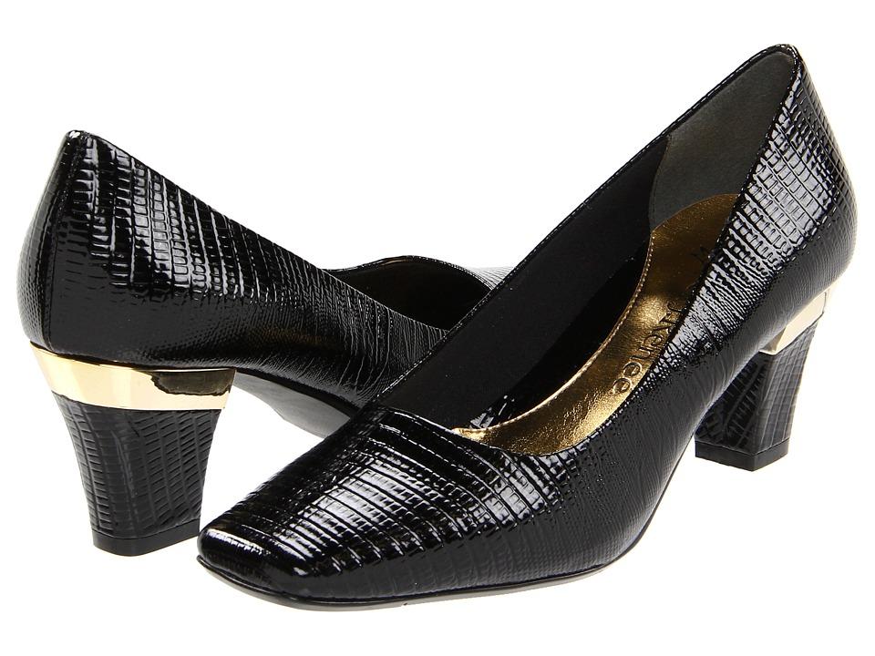 J. Renee - Mary (Black Lizard Print) Women's Slip-on Dress Shoes