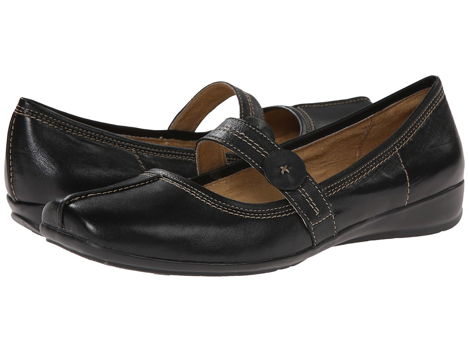 Naturalizer - Referee (Black Leather) Women's Shoes