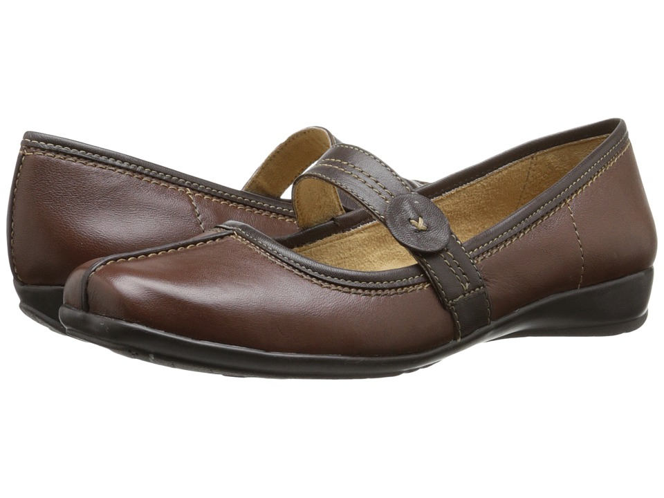 Naturalizer - Referee (Coffee Bean/Oxford Brown Leather) Women's Shoes