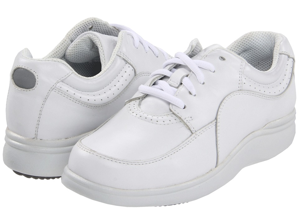 Hush Puppies Power Walker (White Leather) Women