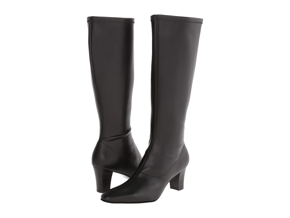 David Tate - Denver (Black Stretch Smooth) Women's Dress Boots
