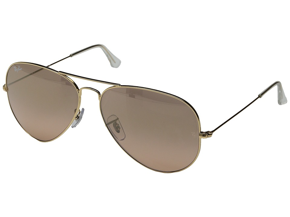 Ray-Ban - RB3025 Original Aviator 62mm (Arista/Pink Silver Gradient Mirror Lens) Metal Frame Fashion Sunglasses