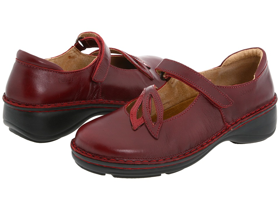 Naot Footwear - Primrose (Red Pepper Leather/Cherry Patent Leather) Women's Maryjane Shoes