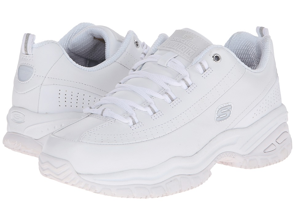 SKECHERS Work - Softie (White Smooth Leather) Women's Industrial Shoes