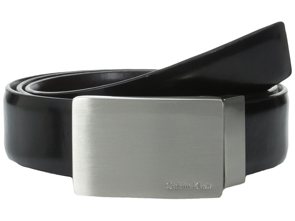 Calvin Klein - Top Performer 31mm Belt (Black/Brown) Men's Belts
