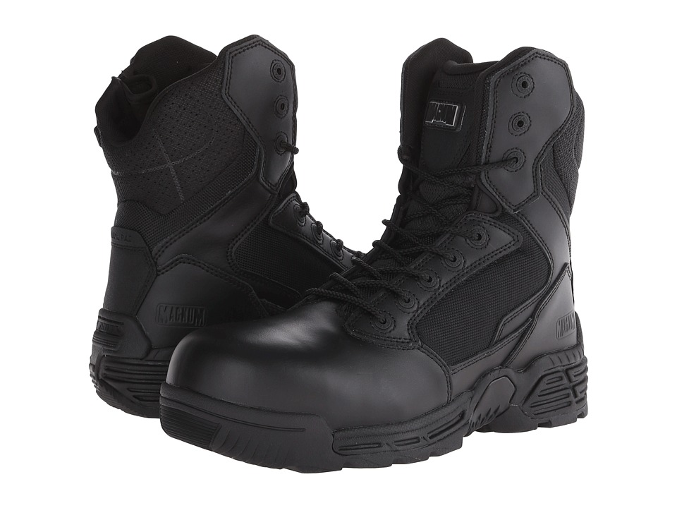 Magnum - Stealth Force 8.0 Side-Zip Composite Toe (Black) Men's Work Boots